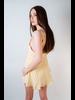 Mini Yellow Striped Party Dress