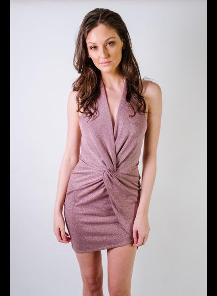 Dressy Shimmer Halter Dress