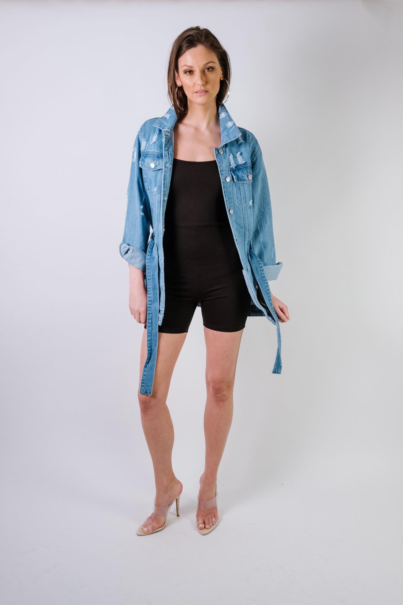 Jeans Belted Jean Jacket