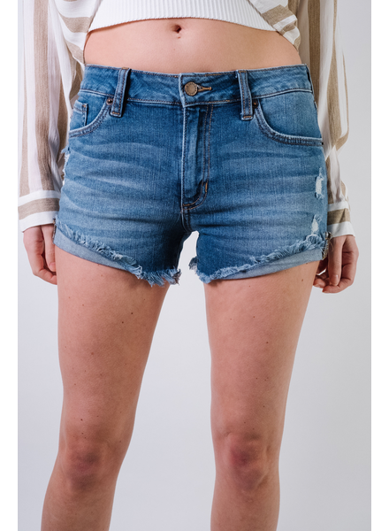 Shorts High Rise Cuffed Side Seam Shorts