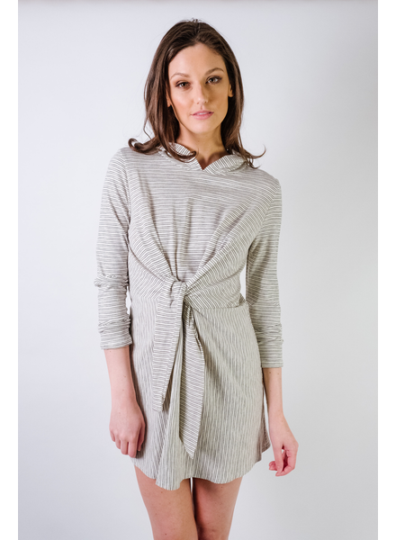 Mini Striped Hooded Dress