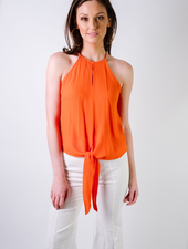 Tank Red Tie Blouse