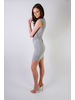 Mini Grey Cutout Mini Dress