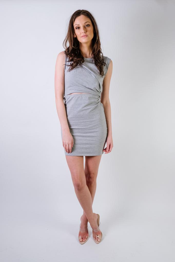 Mini Grey Cutout Mini Dress