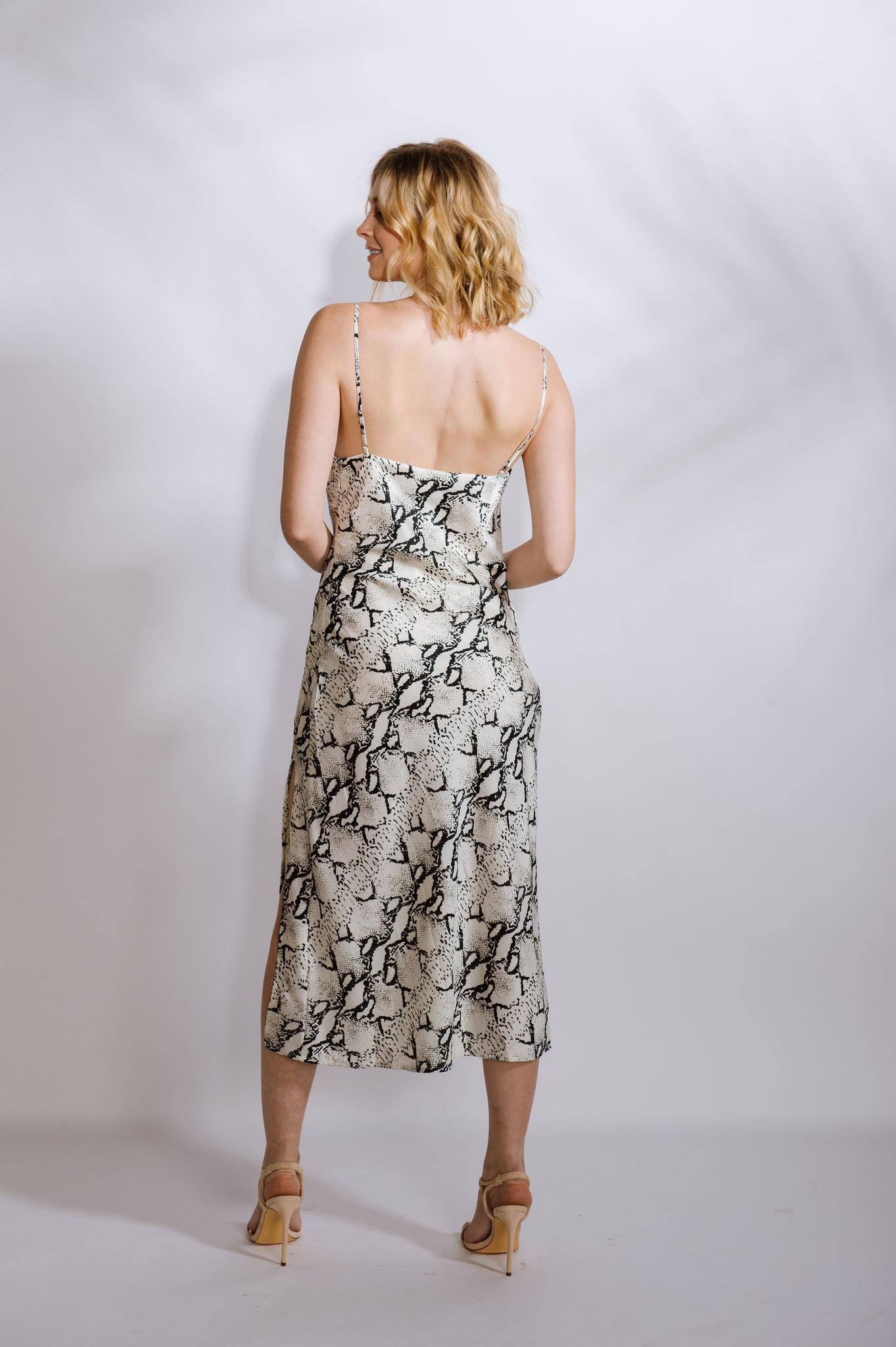 Dressy Snake Slip Dress