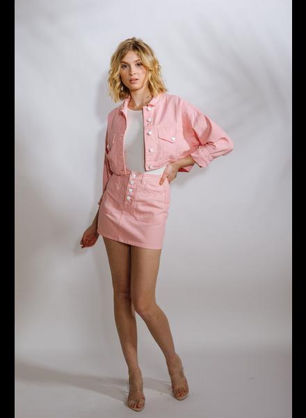 Skirt Pink Denim Mini