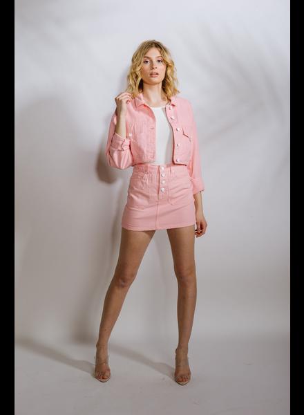 Lightweight Pink Denim Jacket