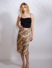 Skirt Satin Snake Midi