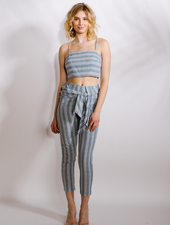 Pants Striped Linen Pants