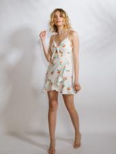 Mini Cherry Wrap Dress