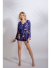 Casual Navy Floral Romper