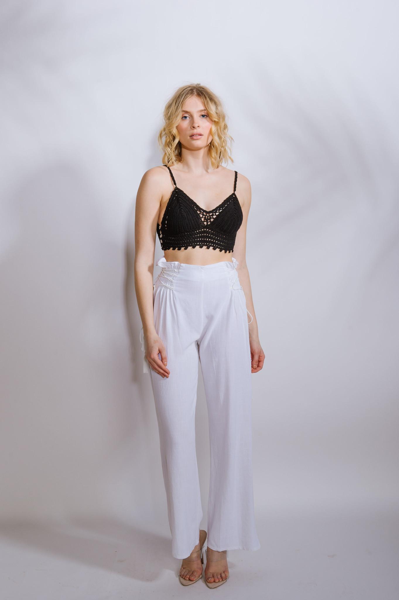 Crop Crochet Bra Top