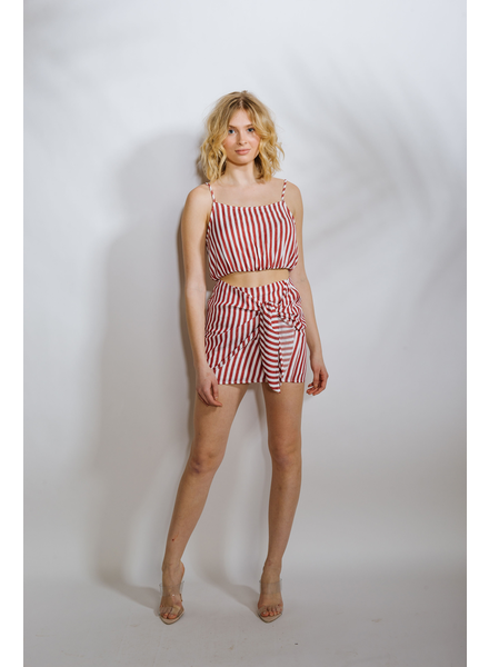 Crop Red Striped Crop