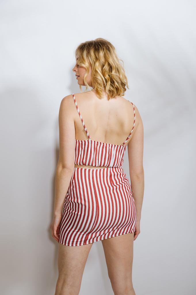 Crop Red Striped Crop