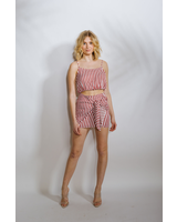 Skirt Red Striped Mini