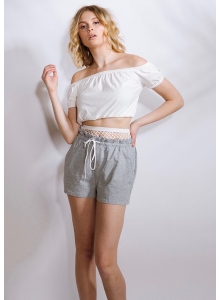 T-shirt Rouched Cotton Crop