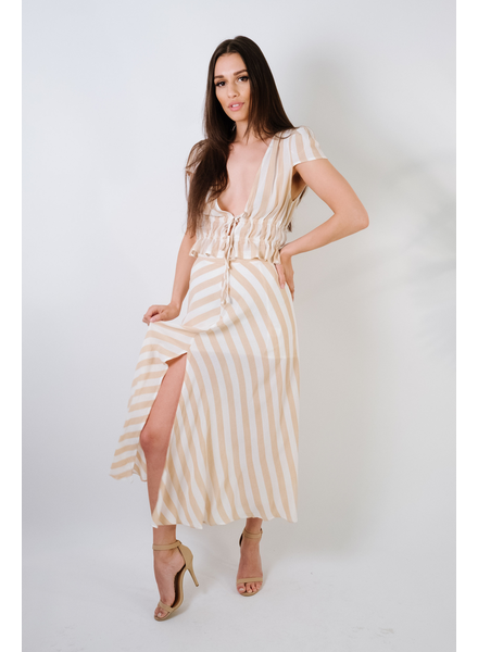 Skirt Striped Maxi Skirt