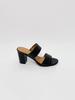 Sandal Black Block Heel Slide