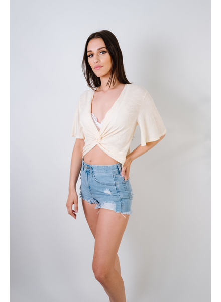 T-shirt Cream Twist T