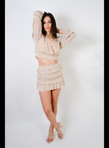 Skirt Floral Mini Skirt