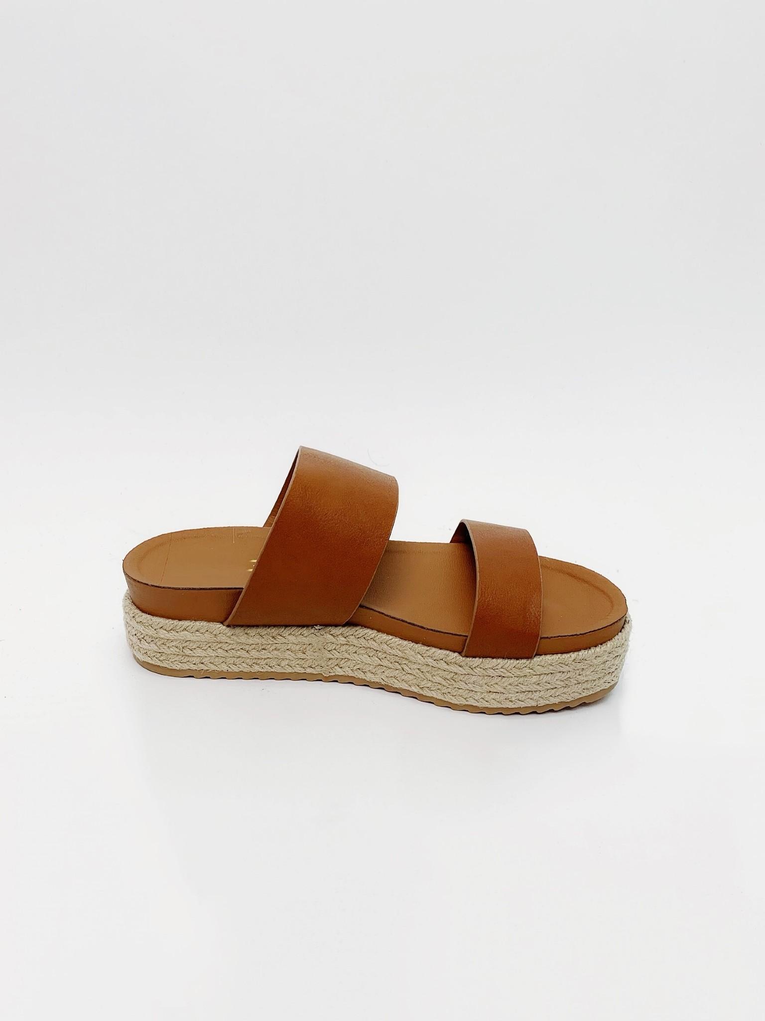 Sandal Brown Jute Platform Slide