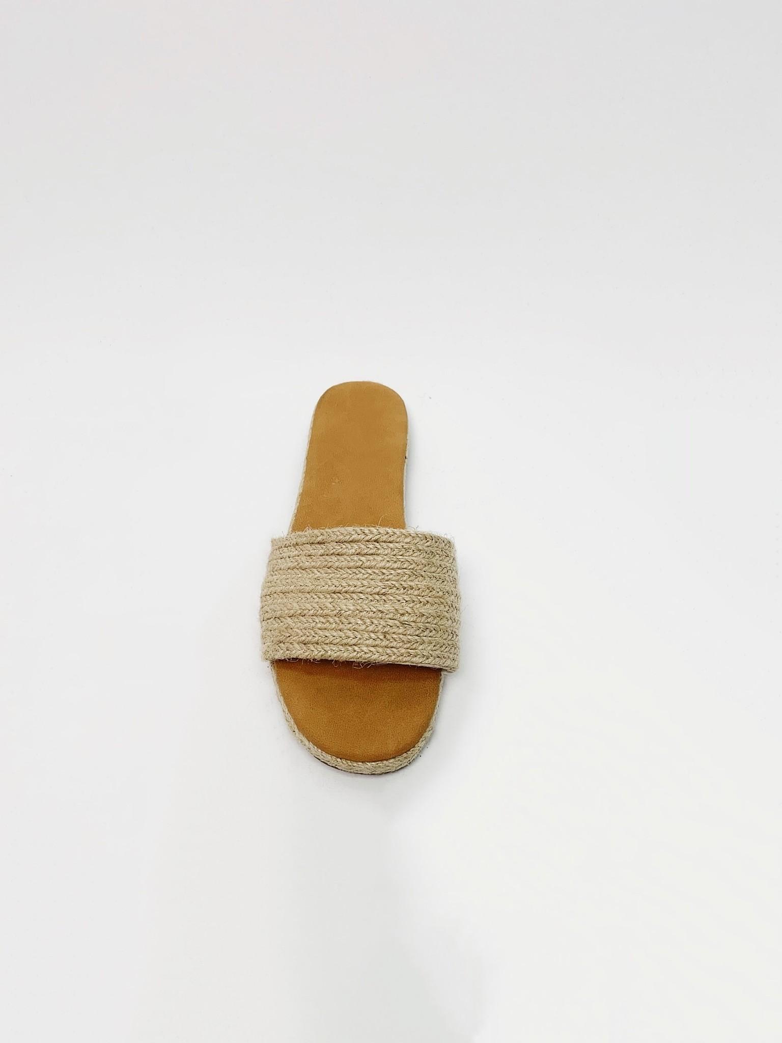 Sandal Jute Slide