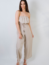Dressy Stone Strapless Jumpsuit