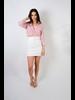 Skirt White Denim Belted Mini