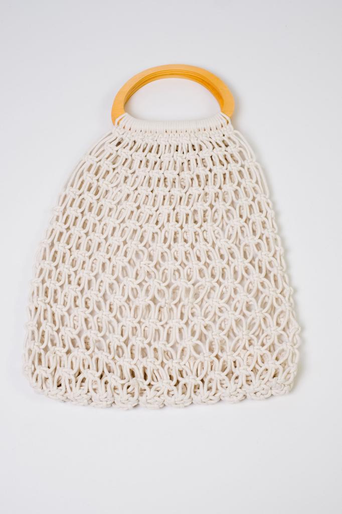 Handbag Wooden Handle Net