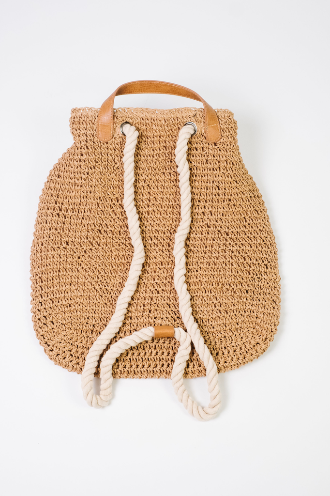 Handbag Jute Backpack