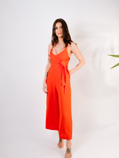 Dressy Burnt Orange Wrap Jumper