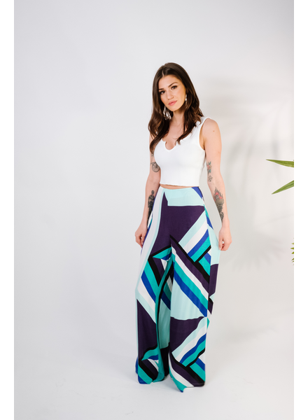 Pants Abstract Wide Leg Pant