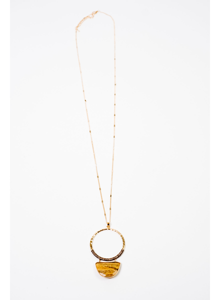 Trend Open O Stone Necklace