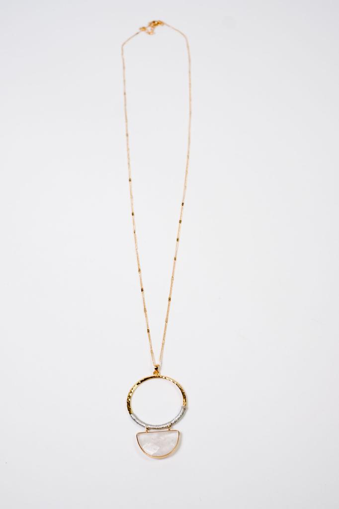 Trend Translucent Stone Necklace