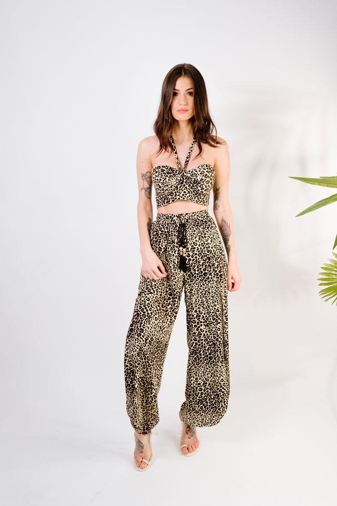 Pants Leopard Wide Leg Pant