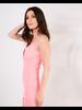 Midi Neon Pink Ribbed Midi Dress