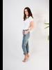 Bodysuit White Ribbed Short Sleeve Bodysuit