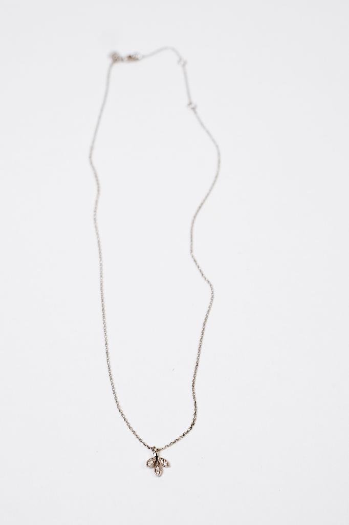 Dressy Leaf Charm Necklace