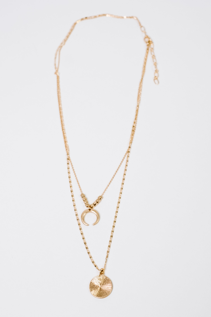 Trend Multi Layered Charm Necklace