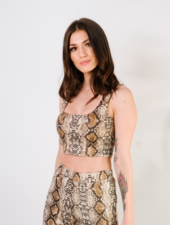 Crop Snake Print Bra Top