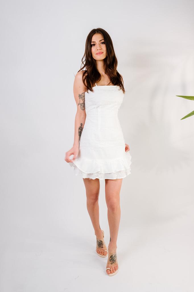 Mini Fray Ruffle Dress