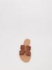 Sandal Brown Perforated Slide