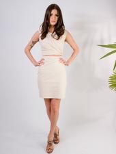 Mini Cream Cutout Mini Dress