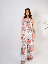 Jumpsuit Satin Oriental Flower Jumpsuit