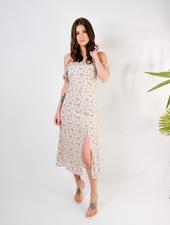 Midi Ruffle Strap Floral Dress