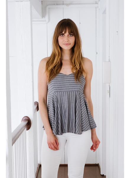 Tank Striped Babydoll Tank