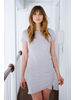 T-shirt Gray Side Rouched T-Shirt Dress