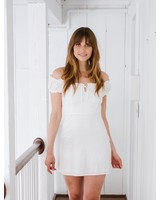 Mini OTS Linen Mini Dress
