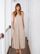 Jumpsuit Tie Top Wide Leg Jumpsuit