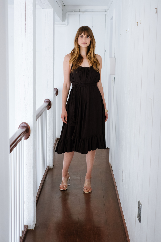 Casual Midnight belted midi